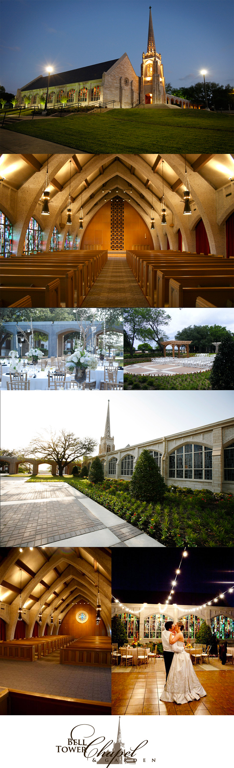 Fort Worth wedding and reception venue the Belltower Chapel & Garden