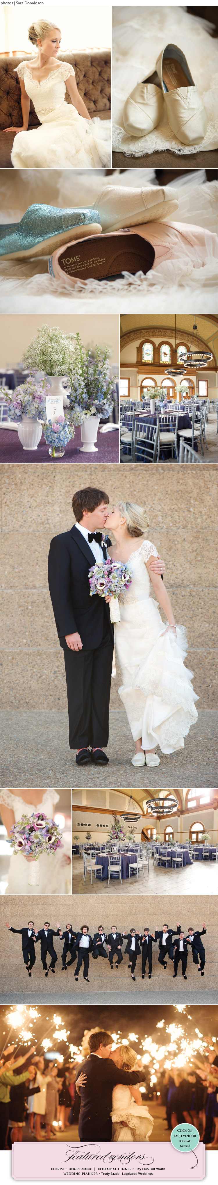 Brittany Campbell and Tyler Mycoskie - TOMS Shoes - Texas Wedding