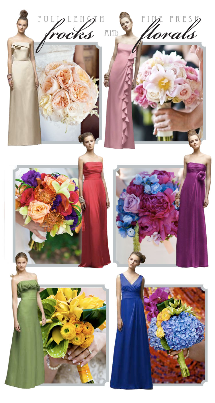 Lela Rose bridesmaid dresses and bouquets from Haute Events & Floral Design