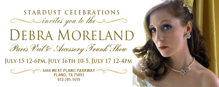 Debra Moreland is Paris, Stardust Celebrations Trunk Show