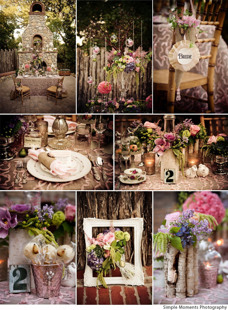 Country chic meets vintage glam for Decoration theme jardin
