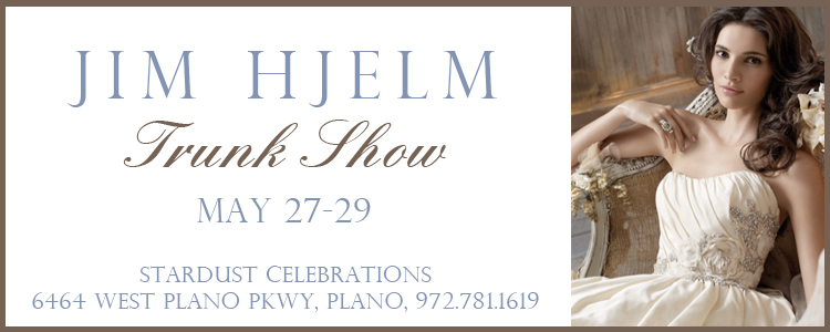 Jim Hjelm trunk show at Stardust Celebrations in Plano, Texas