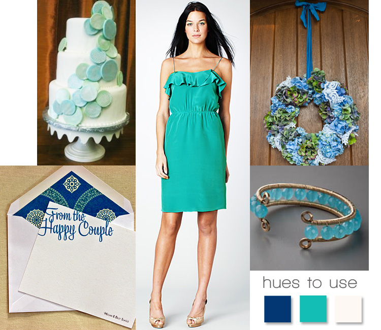 Wedding inspiration - sea foam green and ocean blue