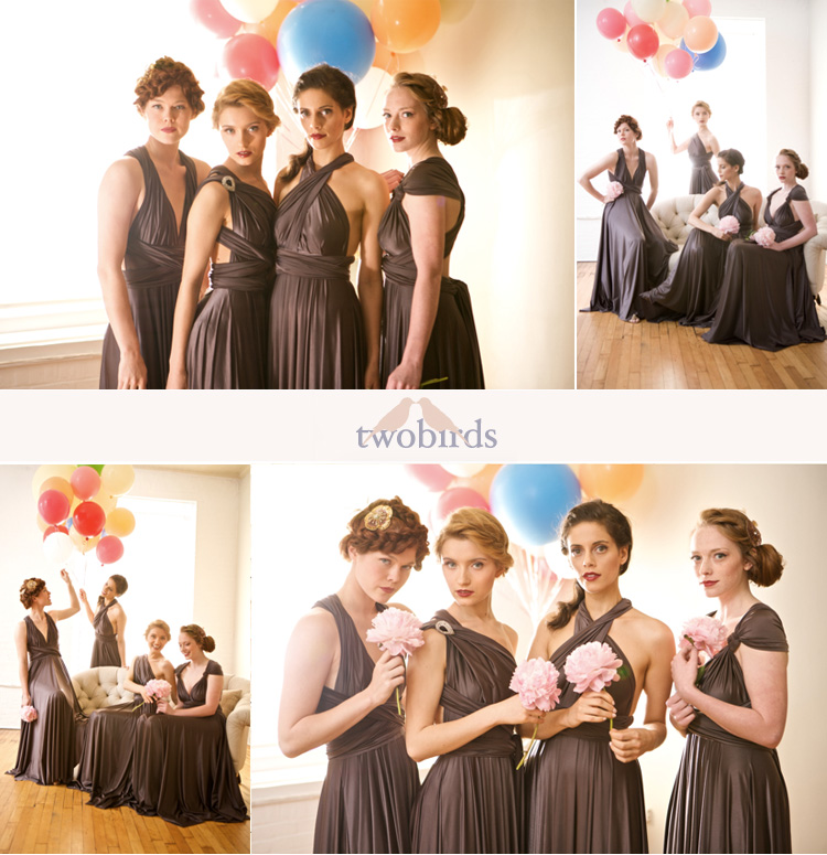 Two Birds Bridesmaid Dresses, The Bridal Salon at Stanley Korshak, Bella Bridesmaid