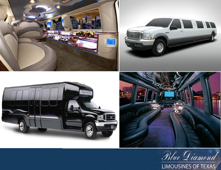 Blue Diamond Limousines, Texas Party Bus
