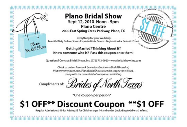 Plano Bridal Show and other DFW bridal shows at Brides of North Texas.
