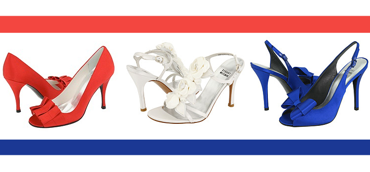 Happy Independence Day, Fourth of July Accessories, Stuart Weitzman Bridal Shoes