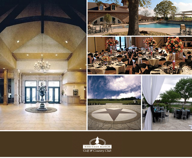 Find North Texas wedding and reception venues-Heritage Ranch Country Club