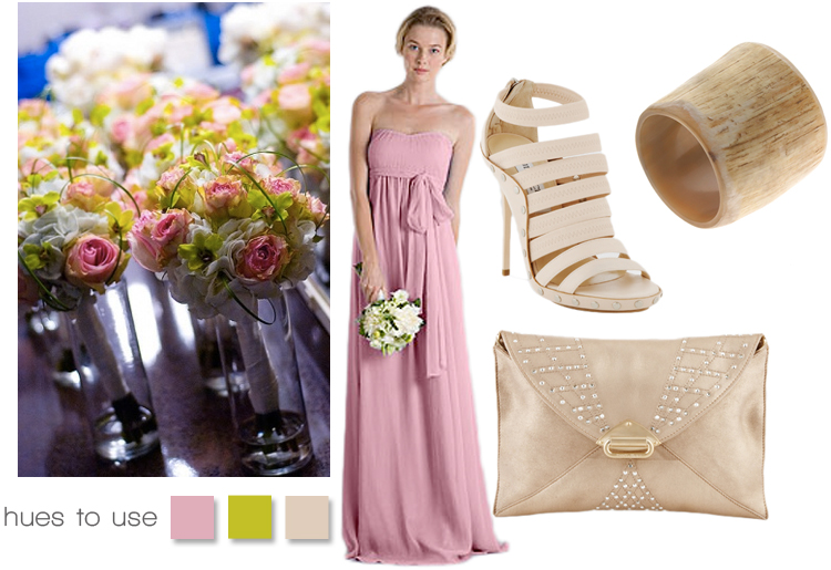 wedding ideas for pink, green and taupe, Brides of North texas