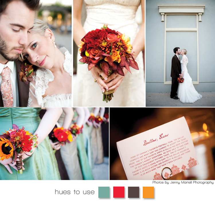 Real Texas wedding - fall colors