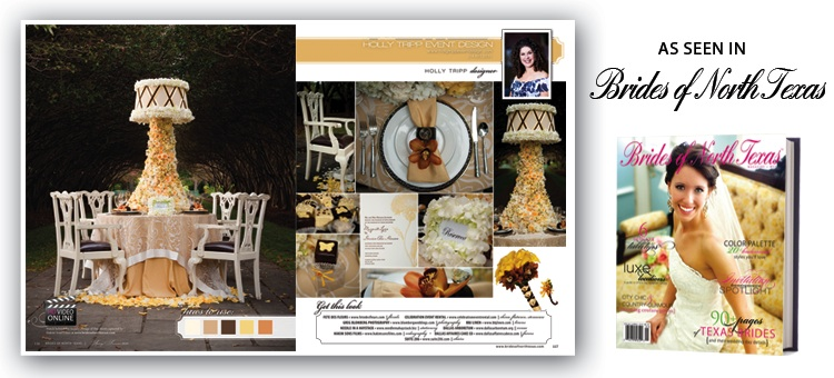 holly tripp event design, featured in brides of north texas