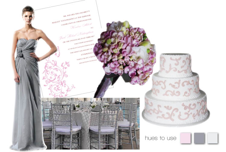 Brides of North Texas hues to use slate grey and pink