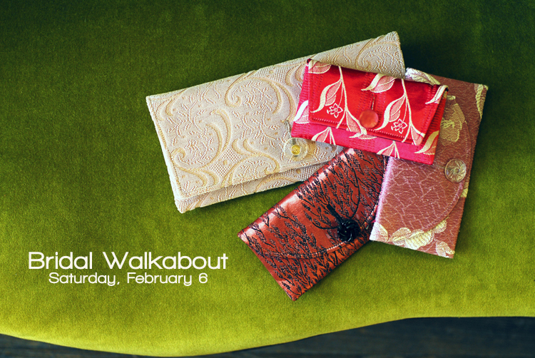 Bridal and bridesmaid clutches available at Cahoots Handbags in Gainsville, Texas