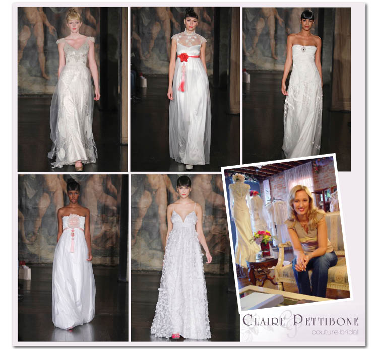 Find Claire Pettibone bridal locally at Patsy's Bridal in Dallas, Texas