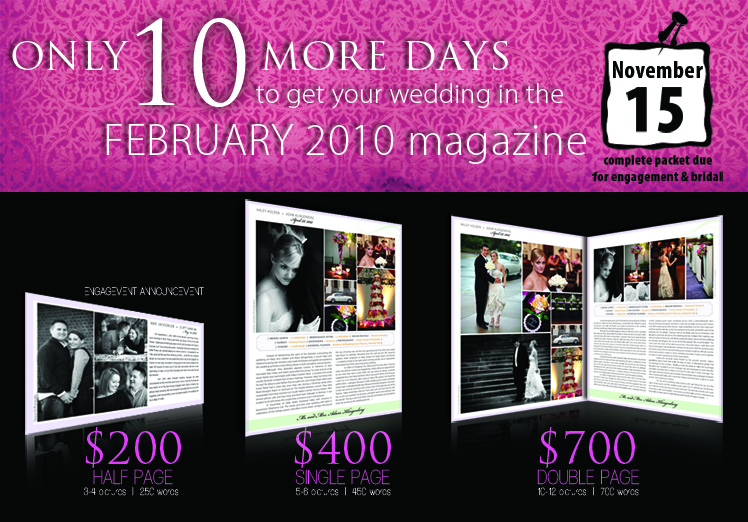 Announce your Texas wedding in Brides of North Texas magazine