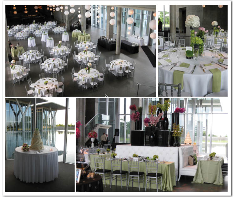 Cafe Modern, located in the Modern Art Museum of Fort Worth, is available for Texas wedding receptions