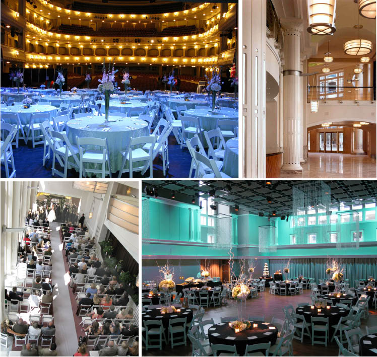 The Bass Performance Hall in Fort Worth, Texas is available for Texas weddings and receptions