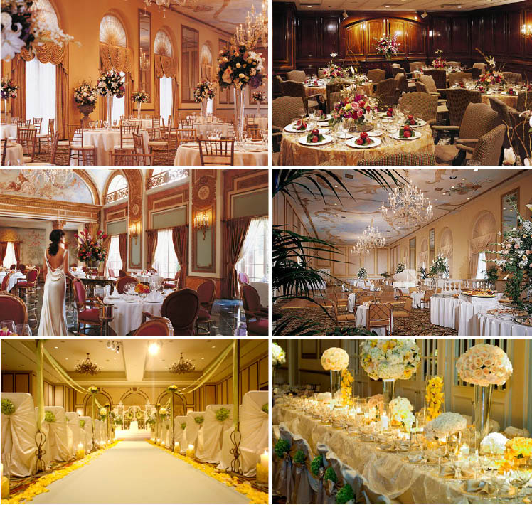 The Adolphus Hotel in Dallas, Texas, is available for Texas weddings, receptions and rehearsal dinners
