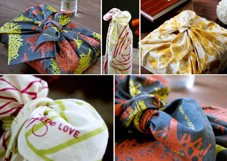 Reusable gift wrap from Chewing the Cud available at Byrd and Bleecker in Fort Worth, Texas