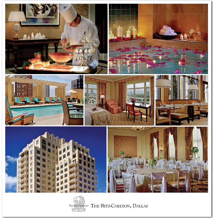 The Ritz Carlton in Dallas offers elegant spaces for Texas weddings, receptions, rehearsal dinners and bridesmaids luncheons
