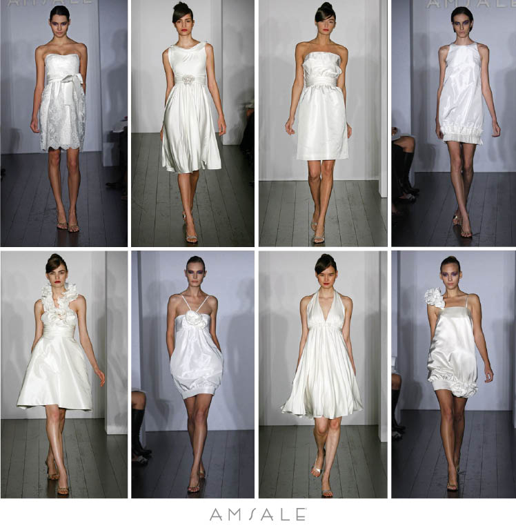 The Little White Dress Collection by Amsale is available at Neiman Marcus in Dallas, Texas