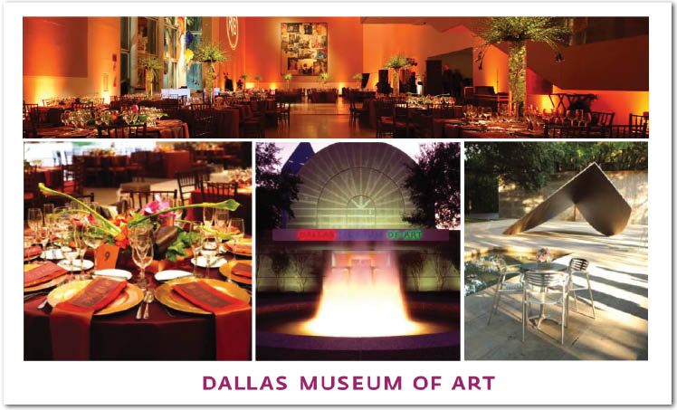 Dallas Museum of Art in Dallas, Texas, available for weddings, receptions and rehearsal dinnners