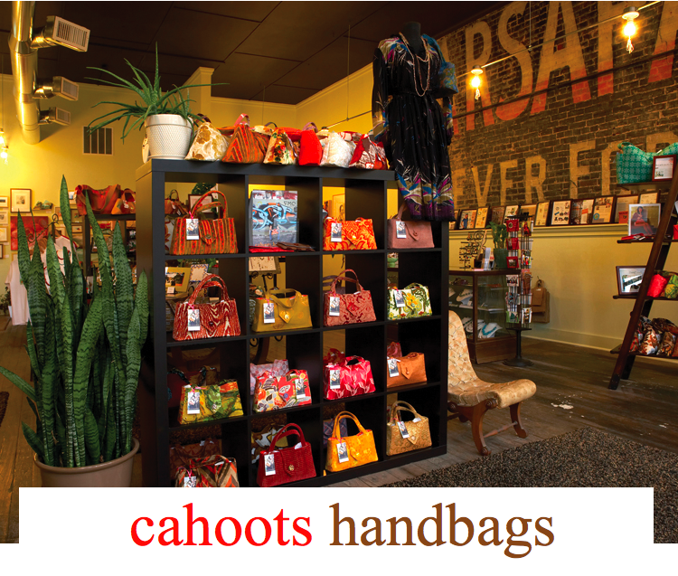 Cahoots in Gainsville, Texas, is the perfect place for bridesmaids gifts and they specialize in cute custom handbags!