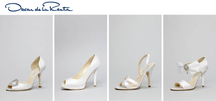 Oscar de la Renta wedding shoes available at Stanley Korshak and Warren Barron in Dallas and Neiman Marcus in Dallas and Fort Worth, Texas
