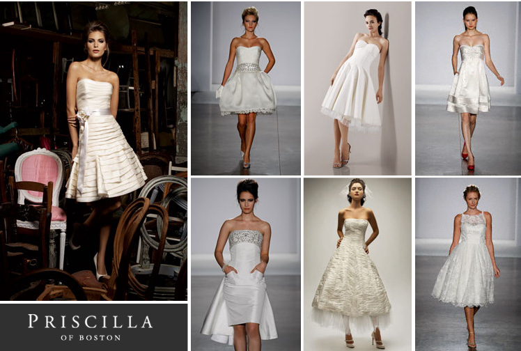 Reception dresses available at Priscilla of Boston in Dallas, Texas