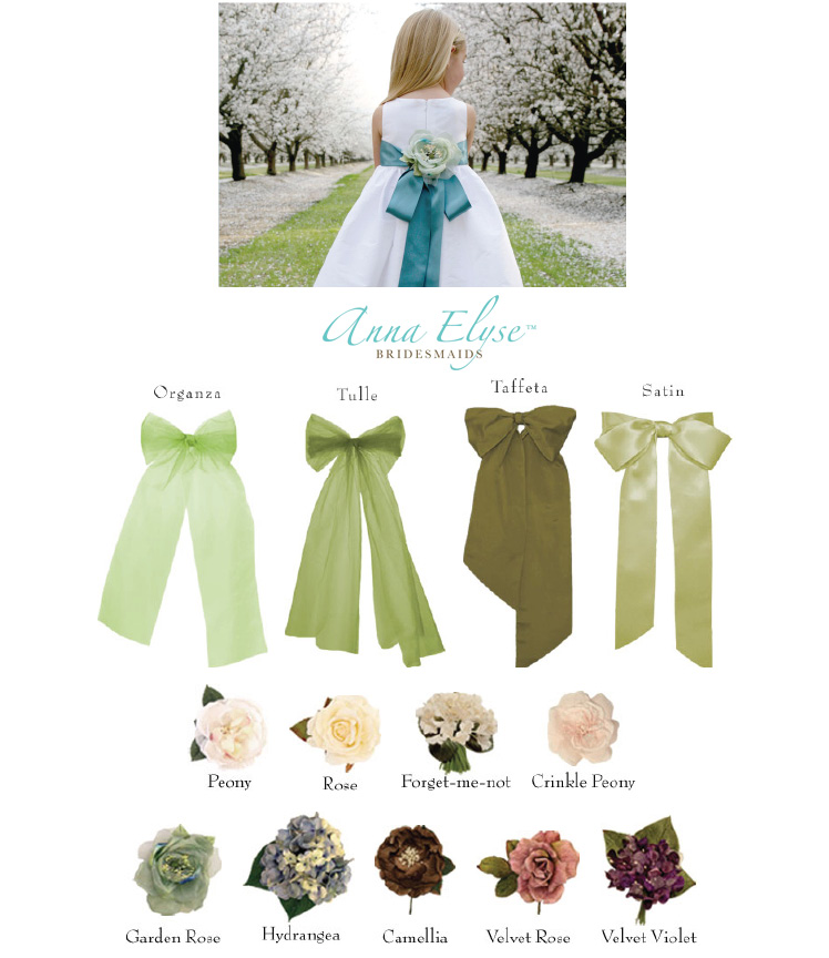 Annie Girl flower girl dresses by Anna Elyse Bridesmaids available at Patsy Bridal and Bella Bridesmaid in Dallas, Texas