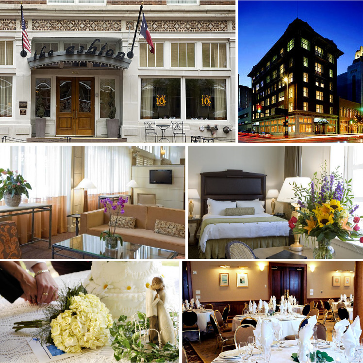The Ashton Hotel for weddings, receptions, rehearsal dinners in downtown Forth Worth, Texas