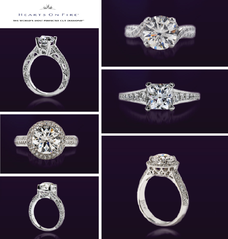 Hearts On Fire diamond engagement rings available at Willis Fine Jewelry, Bachendorf's and Haltom's Jewelry