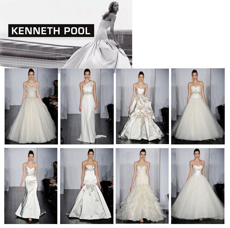 Kenneth Pool spring 2010 bridal gown collection available at Neiman Marcus and Stanley Korshak in Dallas
