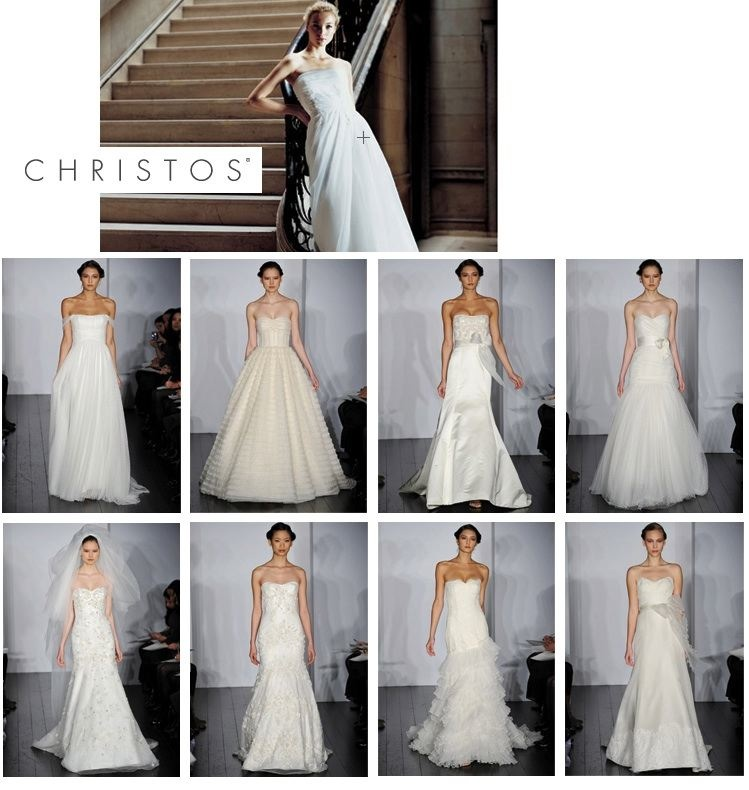 Christos spring 2010 bridal gown collection available at Bridal Portfolio in Southlake and Stanley Korshak in Dallas