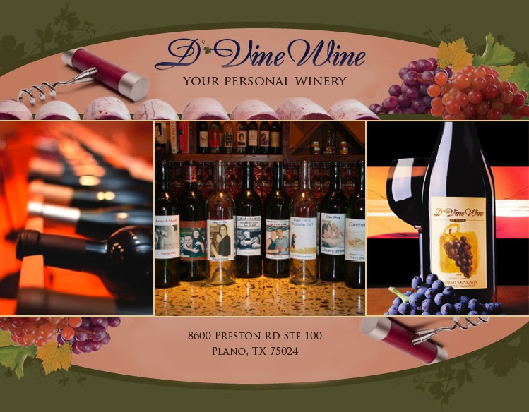 Custom Wine for your wedding at D Vine Wine in Plano, Texas