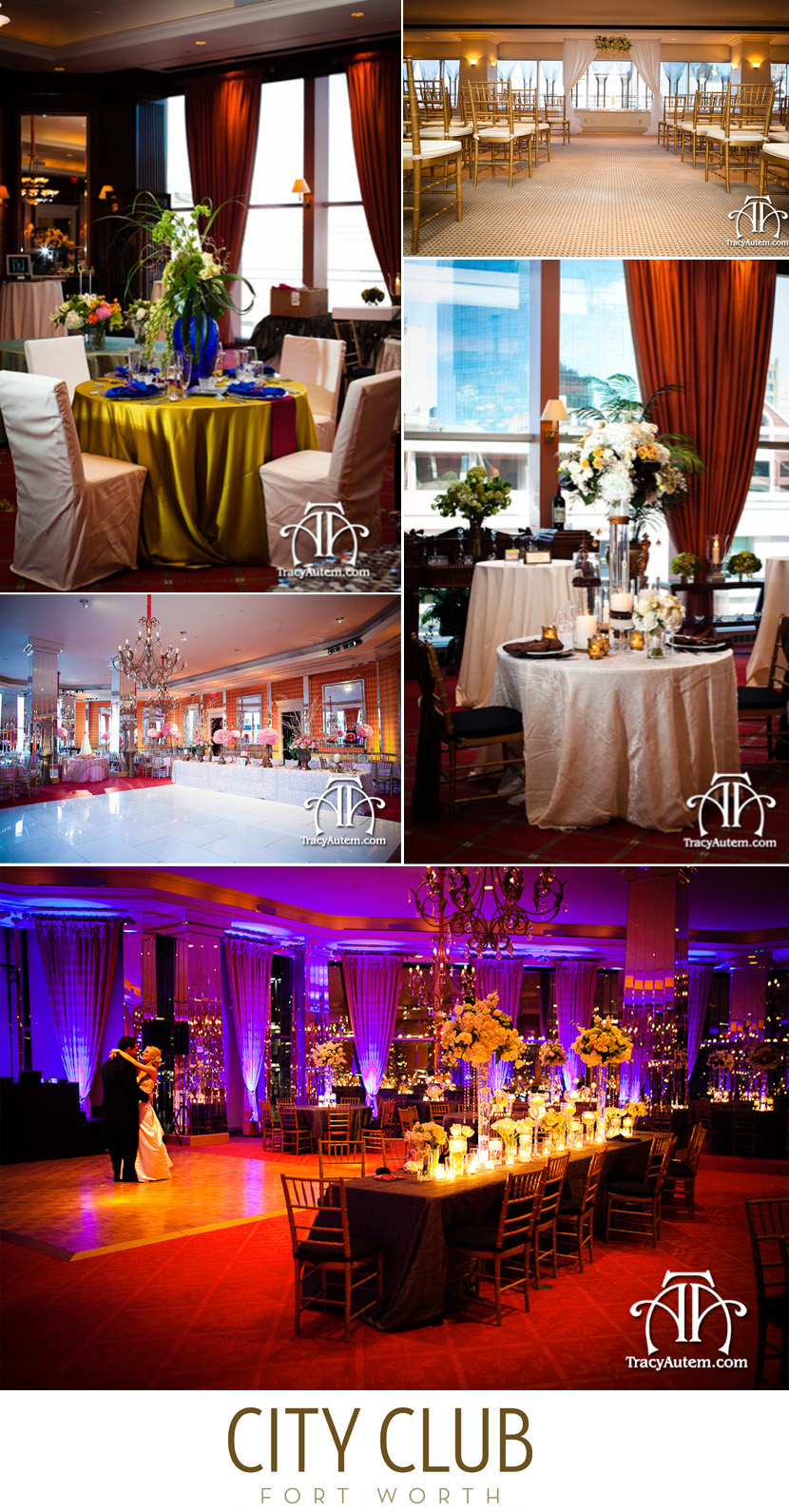 Fort Worth wedding and reception venue City Club Fort Worth Texas