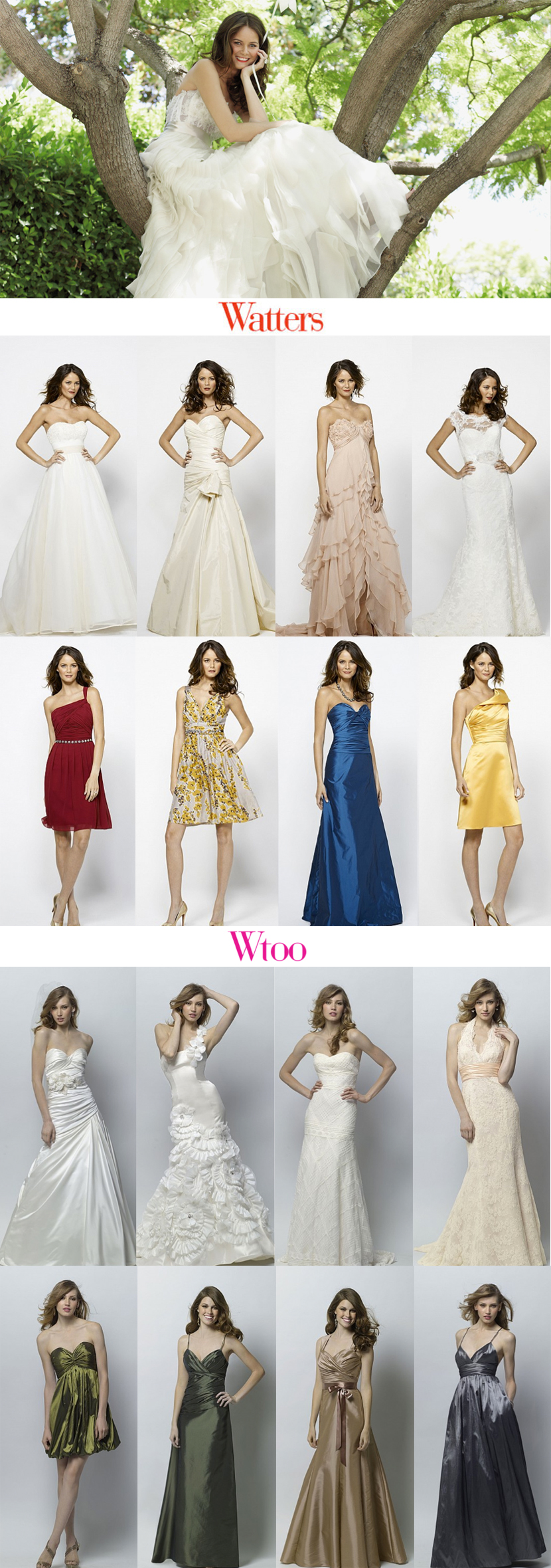 Texas wedding gowns by Watters and WTOO