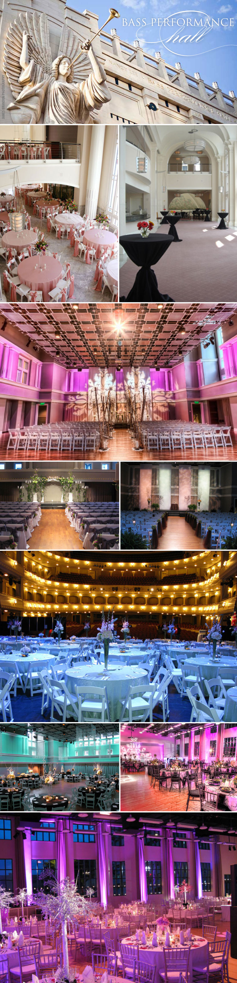 Fort Worth Texas wedding and reception venue Bass Performance Hall