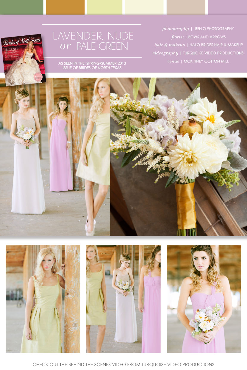 Pretty pairings lavender nude or pale green bridesmaid dresses post content ombrellifo Gallery