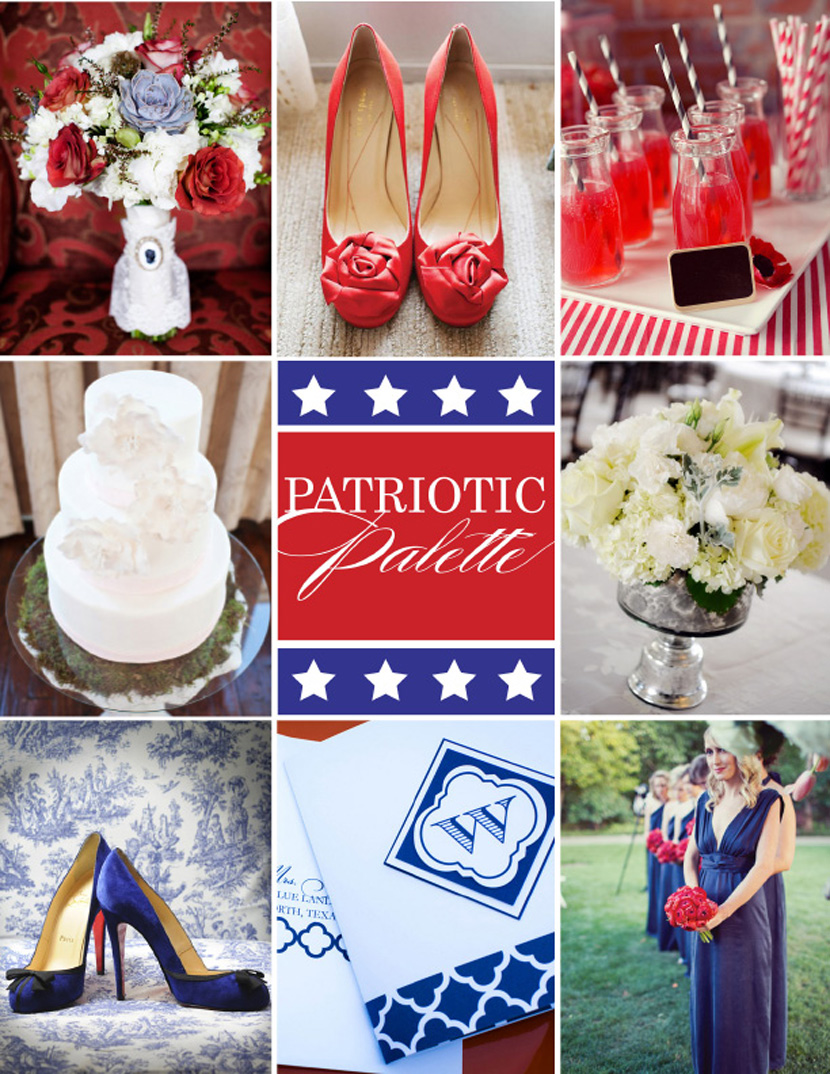 Patriotic Palette - Red, White and Blue Wedding Inspiration