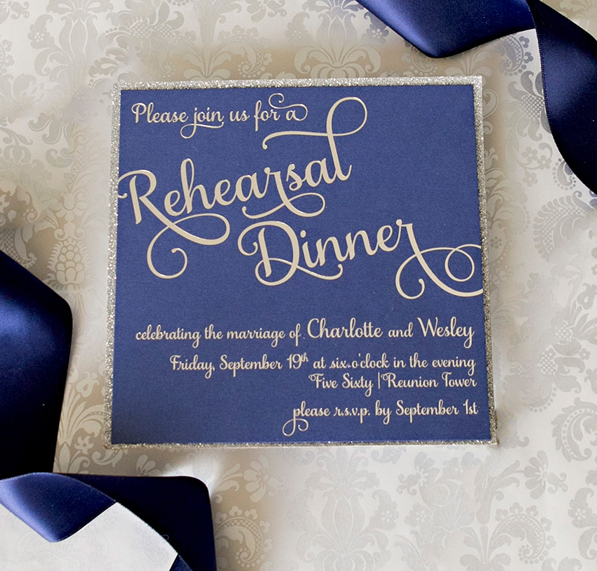 Wedding Party Invites From North Texas Invitation Designers