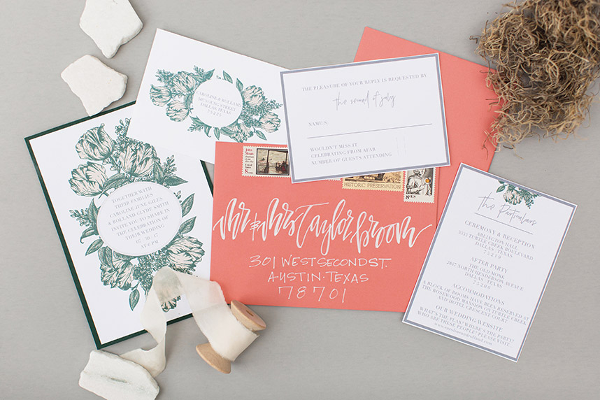 terrain earth inspired invitation suites from dfw wedding