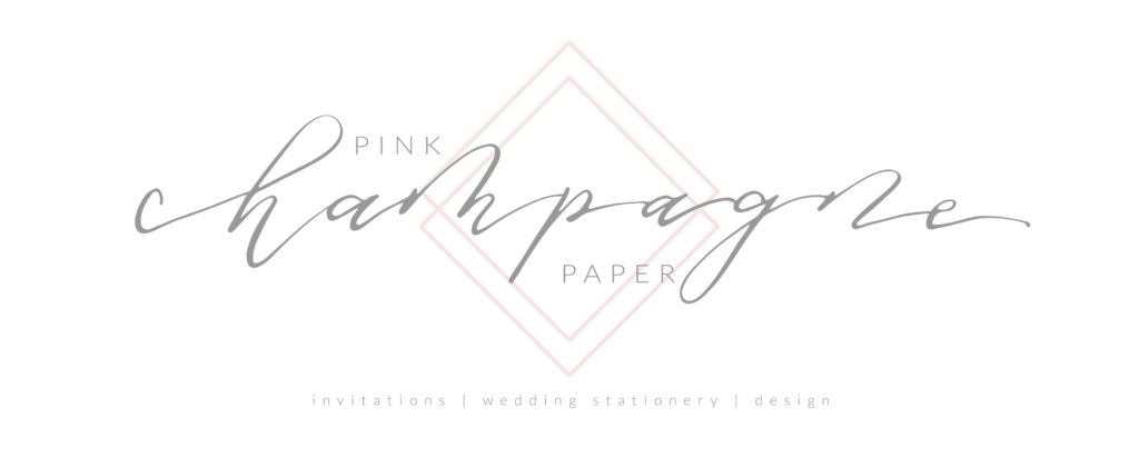Pink Champagne Paper - North Texas Wedding Invitations