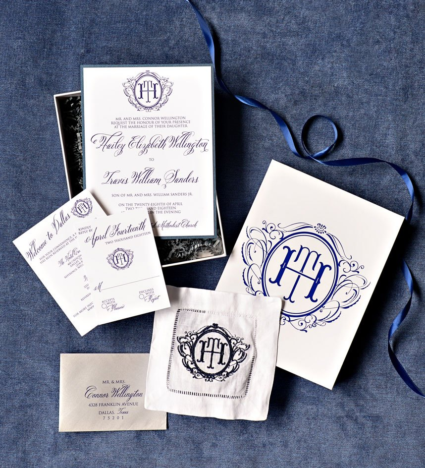 A Look at Branded Wedding Suites from DFW Invitation Designers