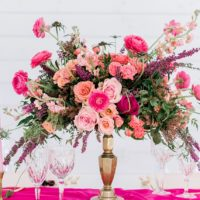 Bright Pink Modern Barn Inspiration from Events by Jade