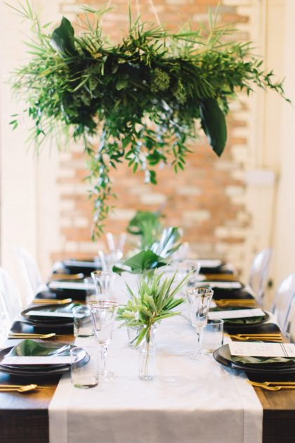 Black and White Tropical Wedding Inspiration from Jen Rios Weddings