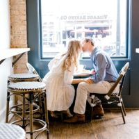 Charming Coffee Shop Engagement from Laylee Emadi Photography