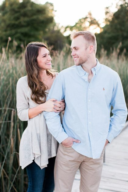 Sunset Lakefront Engagement Captured by Nate & Grace Photography