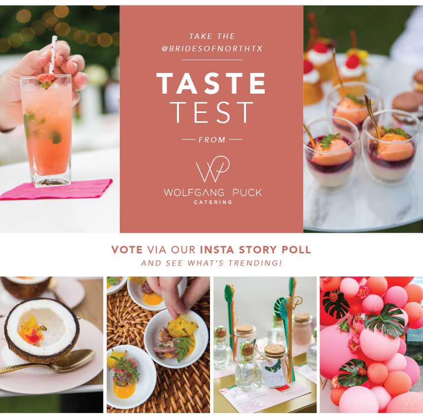wolfgang puck catering taste test instagram stories poll