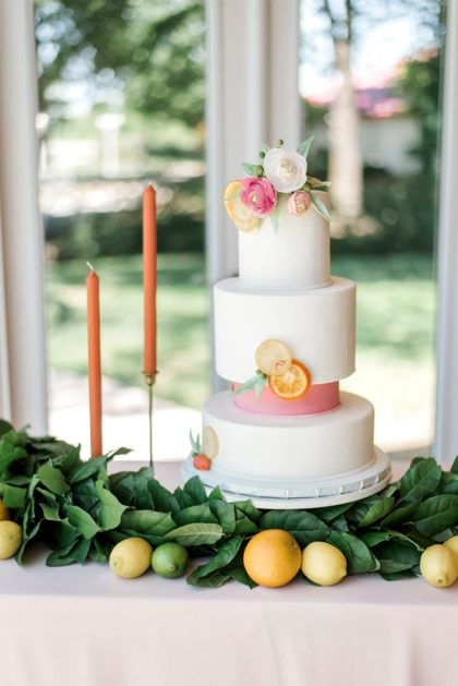 Summer Citrus Wedding from Glitter and Glue Weddings and Events